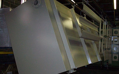 Custom Powder Coating of Large Formed and Welded Steel Tanks