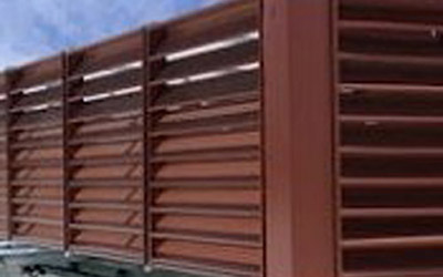 Custom Powder Coating of Large Extruded Aluminum Rooftop Louvers